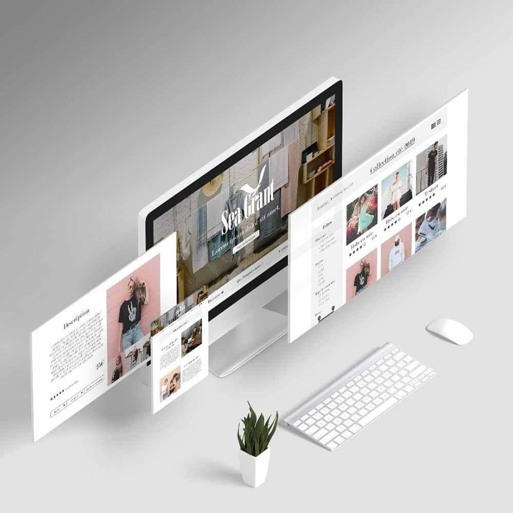 Maquette design de site e-commerce de vêtements crée par La Toile.dev